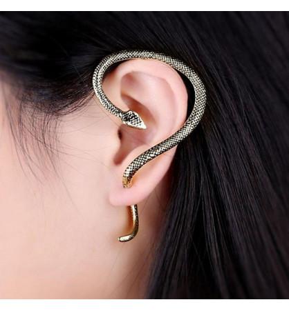 Boucle d'oreille manchette serpent