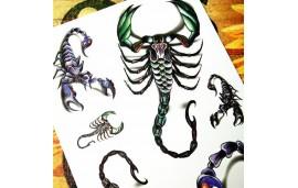 Tatouages temporaires scorpions