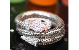 Bracelet serpent strass