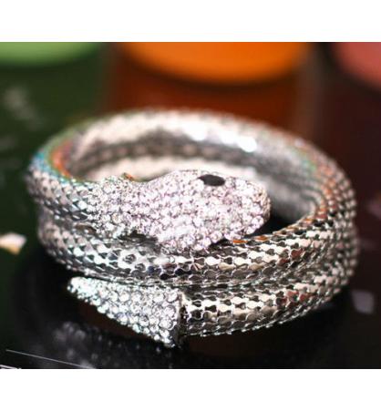 Bracelet serpent strass