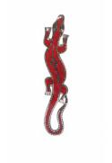 Gecko mosaïque rouge