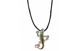 Collier gecko couleur variable