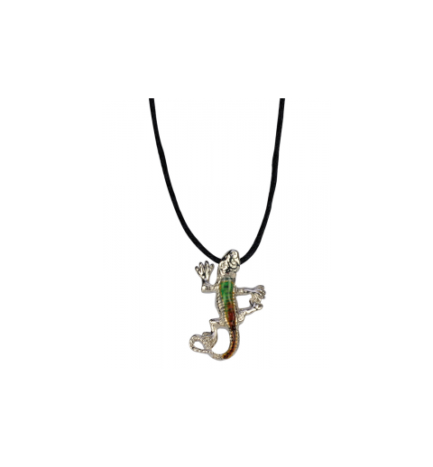 Collier gecko couleur variable
