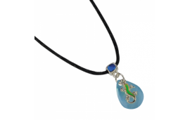 Collier gecko, change de couleur selon l'humeur bleu