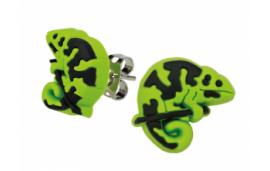 Boucle d'oreille caméléon