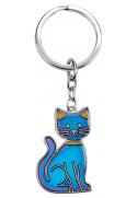 Porte clé d'humeur chat