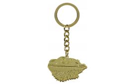 Porte clé tête de pogona dorée