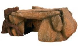 Plateau de roche avec souche