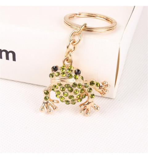 Porte clé grenouille strass
