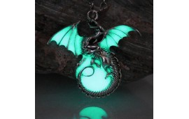 "Porte-clé dragon ""game of thrones"" fluorescent"